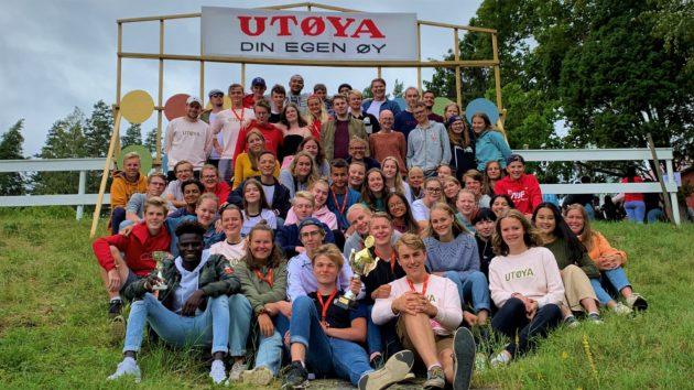 Bilde: AUF i Vestfold og AUF i Telemark på sommerleir 2019.