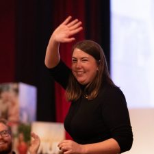 Pressefoto AUFs leder Astrid Willa Eide Hoem